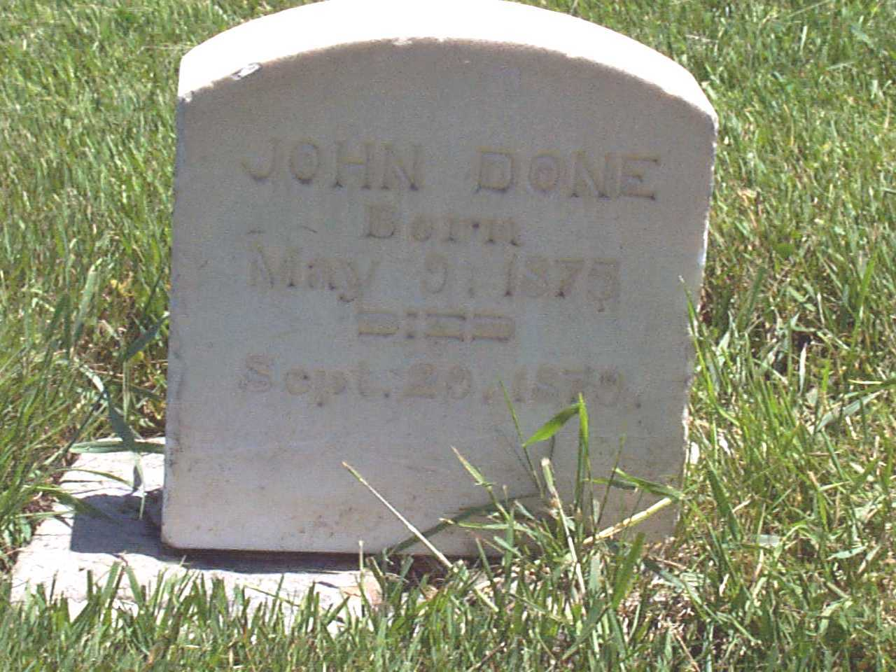 Picture of John Done Cemetery Marker